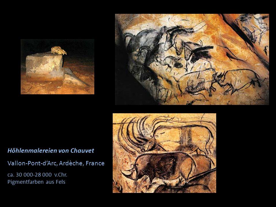 Höhlenmalereien von Chauvet Vallon-Pont-d'Arc, Ardèche, France ca. 30 000-28 000 v.Chr. Pigmentfarben aus Fels