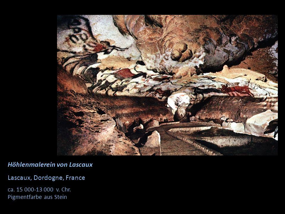 Höhlenmalerein von Lascaux Lascaux, Dordogne, France ca. 15 000-13 000 v. Chr. Pigmentfarbe aus Stein
