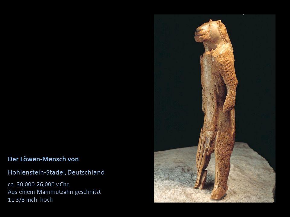 Der Löwen-Mensch von Hohlenstein-Stadel, Deutschland ca. 30,000-26,000 v.Chr. Aus einem Mammutzahn geschnitzt 11 3/8 inch. hoch