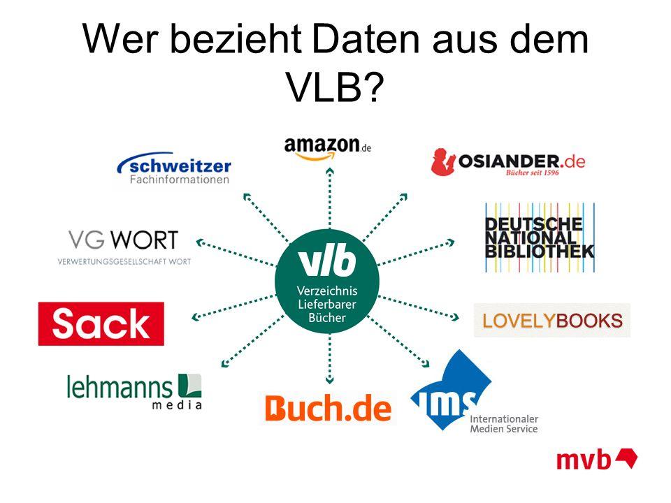 Wer bezieht Daten aus dem VLB?