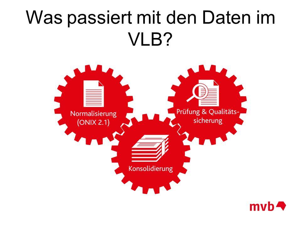 Was passiert mit den Daten im VLB?