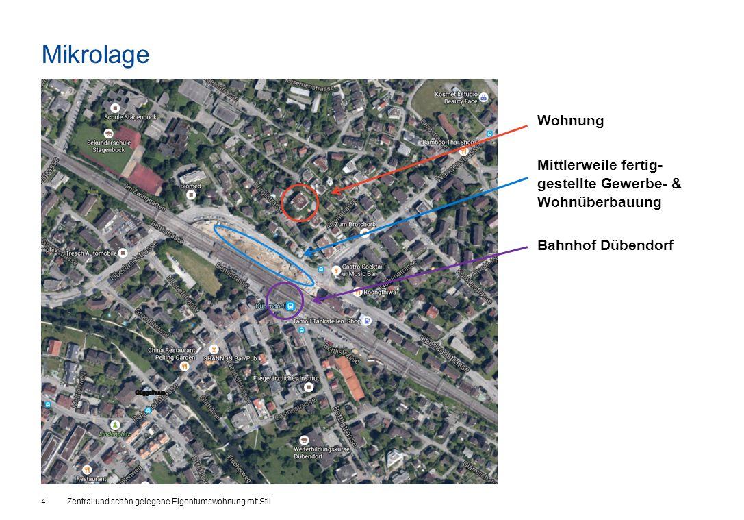 Mikrolage 4Zentral und schön gelegene Eigentumswohnung mit Stil Wohnung Mittlerweile fertig- gestellte Gewerbe- & Wohnüberbauung Bahnhof Dübendorf