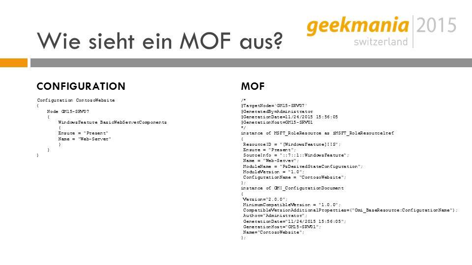 Wie sieht ein MOF aus.
