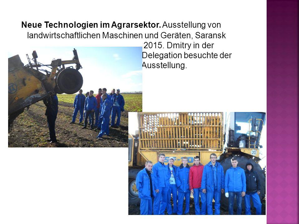 Neue Technologien im Agrarsektor.