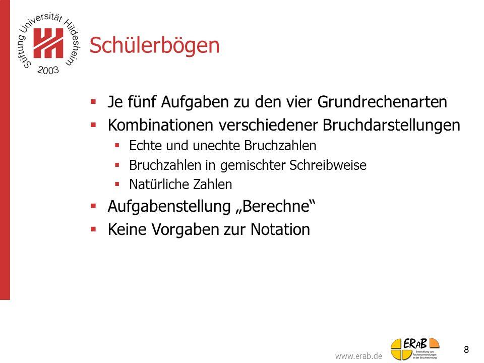 www.erab.de 19 Veränderung typischer Fehler bei der Umwandlung gem.