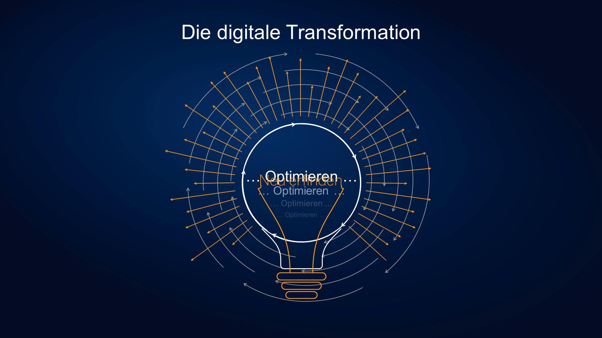 Die digitale Transformation … Optimieren …