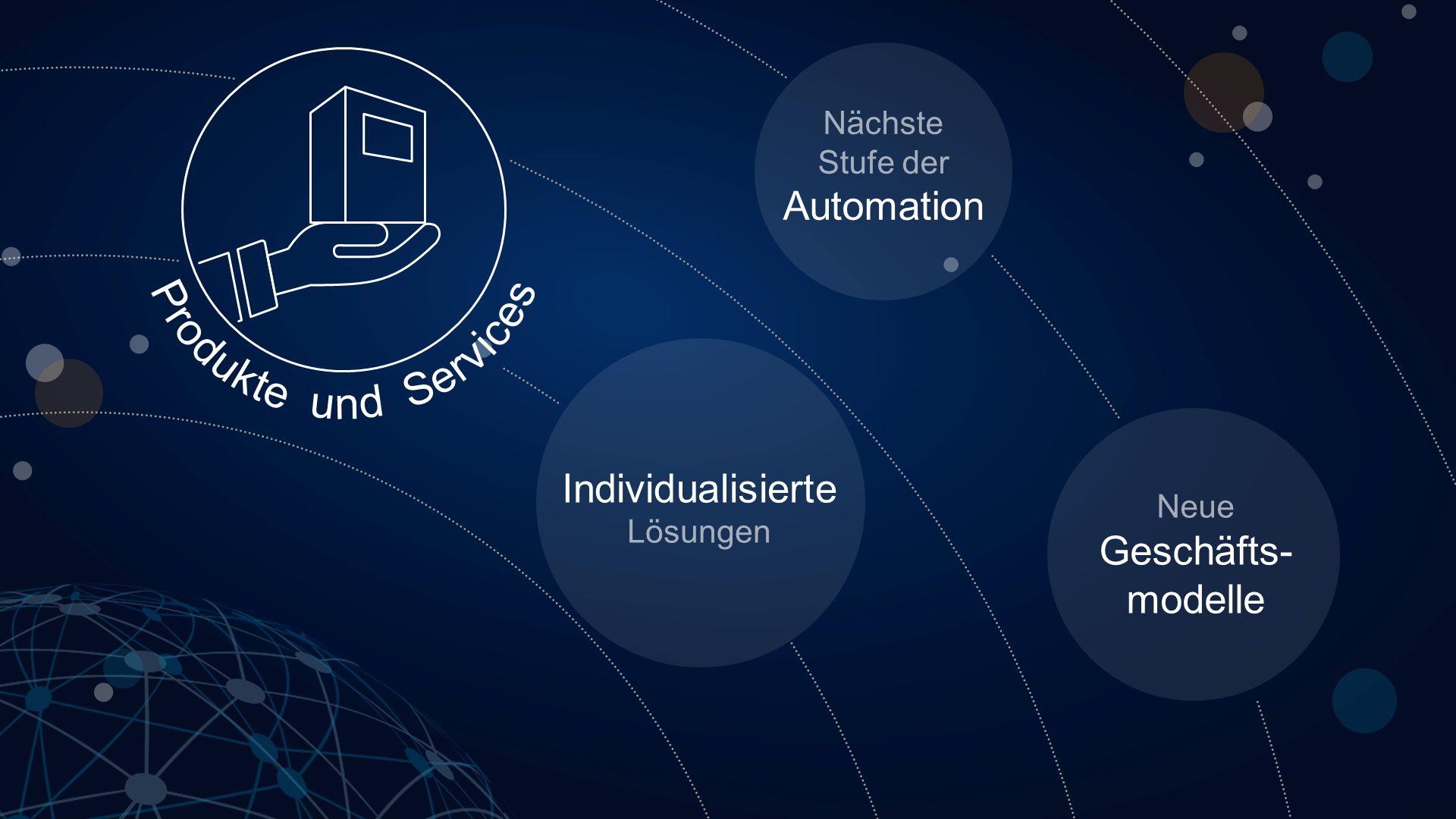 Nächste Stufe der Automation Individualisierte Lösungen Neue Geschäfts- modelle