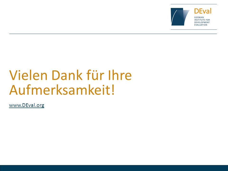 Vielen Dank für Ihre Aufmerksamkeit! www.DEval.org