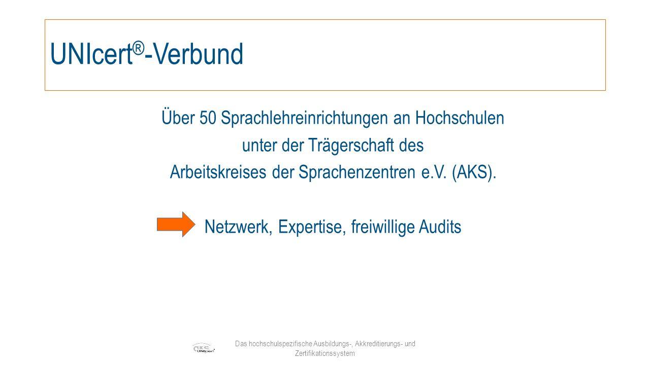 Das hochschulspezifische Ausbildungs-, Akkreditierungs- und Zertifikationssystem