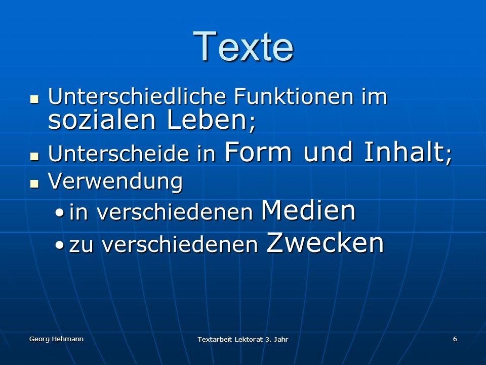 Georg Hehmann Textarbeit Lektorat 3.