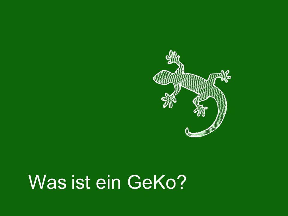 Was ist ein GeKo?