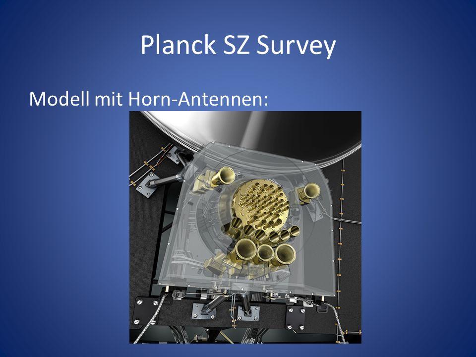 Planck SZ Survey Modell mit Horn-Antennen:
