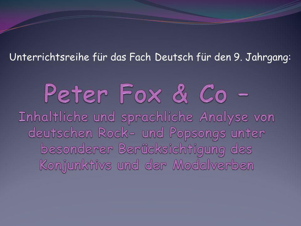 Unterrichtsreihe für das Fach Deutsch für den 9. Jahrgang: