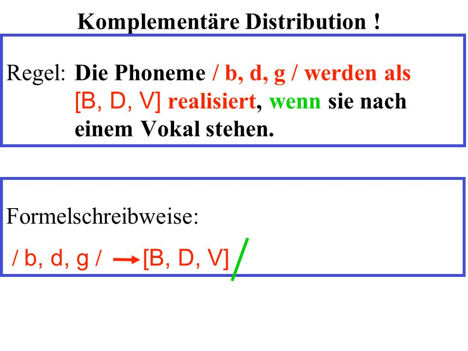 Komplementäre Distribution .