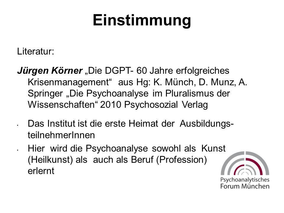 """Einstimmung Literatur: Jürgen Körner """"Die DGPT- 60 Jahre erfolgreiches Krisenmanagement aus Hg: K."""