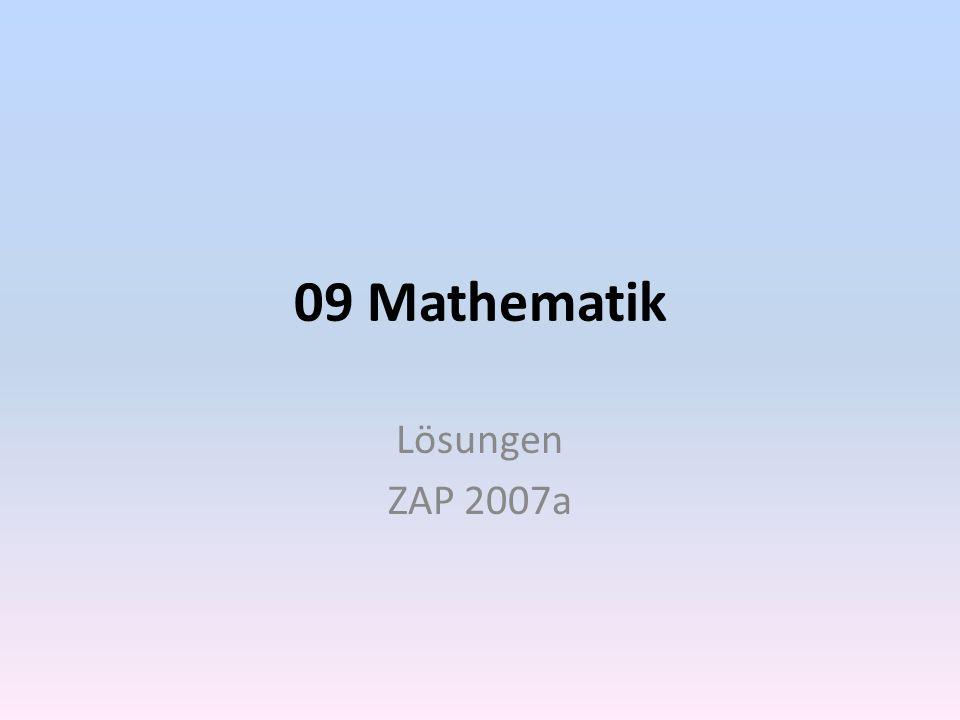 Mathematik KZO 2007a  1.Bestimme die Lösung.
