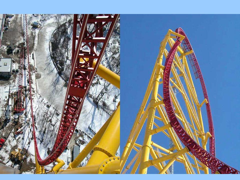 Das ist die Top Thrill Dragster in Cedar Point, Ohio… Daten: eröffnet am 05-04-2003 eröffnet am 05-04-2003 Länge: 853,4 m Länge: 853,4 m Höhe: 128 m Höhe: 128 m Geschwindigkeit: 193,1 km/h (Weltrekord) 0-193 km/h in 4 s 0-193 km/h in 4 s Kosten: 25 Mio US$