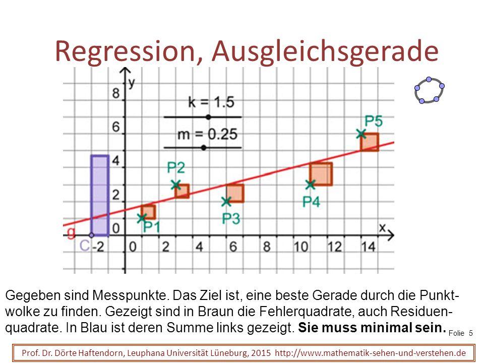 Regression, Ausgleichsgerade Prof.Dr.