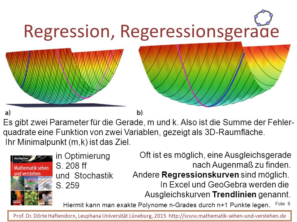 Regression, Regeressionsgerade Prof.Dr.