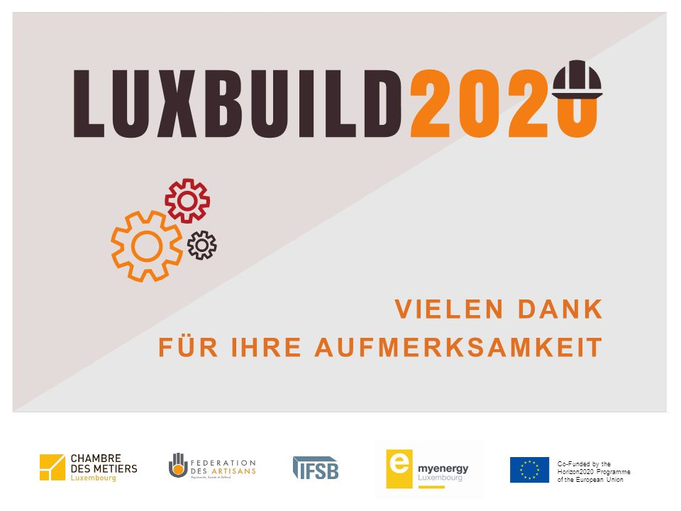Co-Funded by the Horizon2020 Programme of the European Union VIELEN DANK FÜR IHRE AUFMERKSAMKEIT