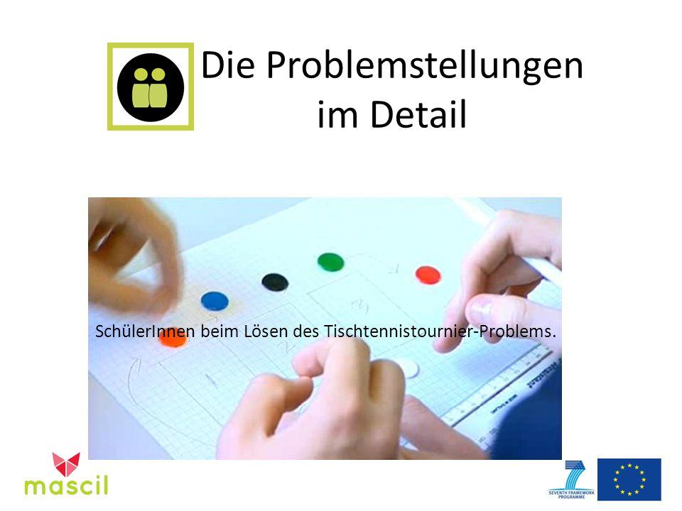 Die Problemstellungen im Detail SchülerInnen beim Lösen des Tischtennistournier-Problems.