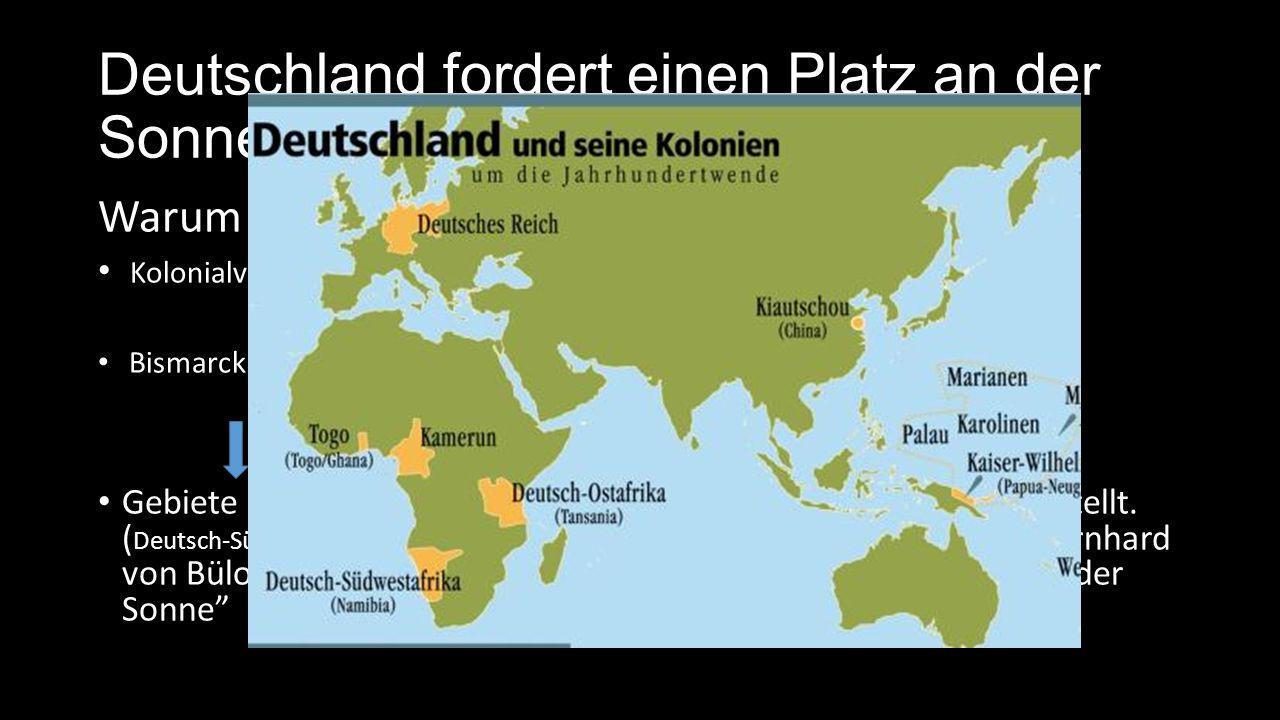 Das Ende des deutschen Kolonialreiches Erster Weltkrieg 1914-18: Deutsche Kolonien werden von u.a.