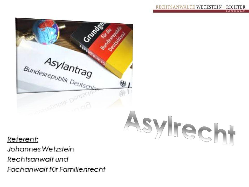 Referent: Johannes Wetzstein Rechtsanwalt und Fachanwalt für Familienrecht