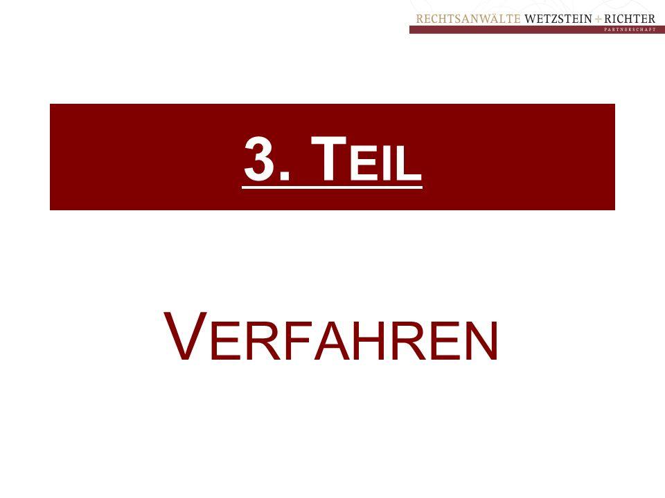 3. T EIL V ERFAHREN