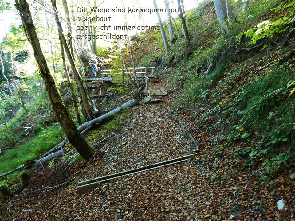 Die Wege sind konsequent gut ausgebaut, aber nicht immer optimal ausgeschildert!