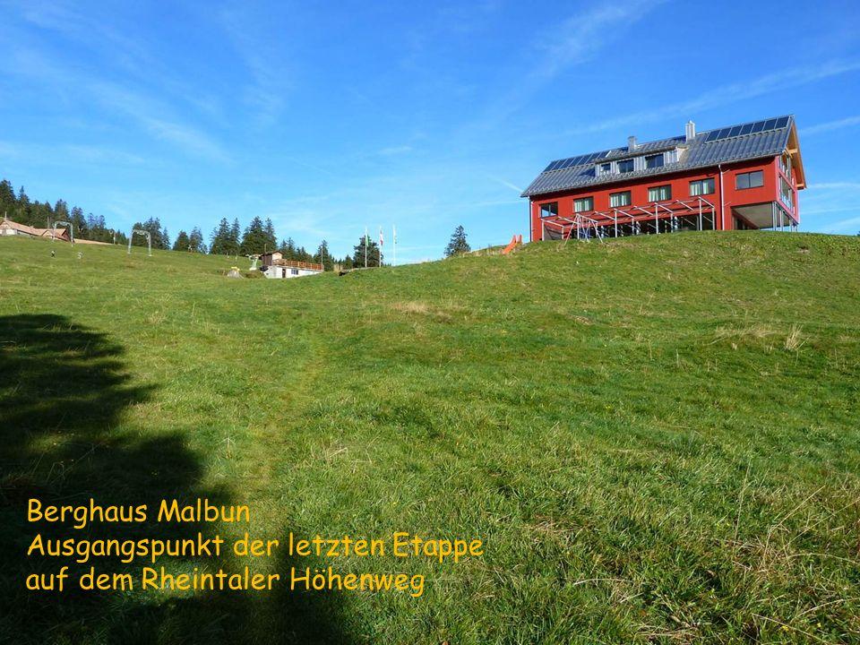 Berghaus Malbun Ausgangspunkt der letzten Etappe auf dem Rheintaler Höhenweg