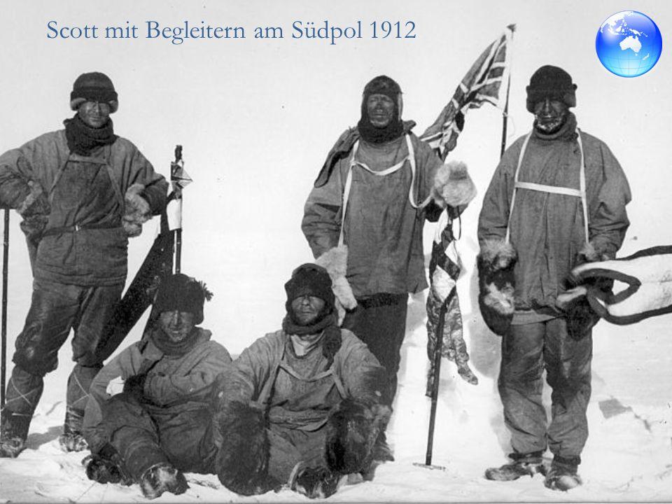 Aufzeichnungen von Roald Amundsen Dichtes Schneegestöber und vom Sturm aufgejagte Schneewehen - Himmel und Erde verschwammen ineinander, nichts war zu sehen.