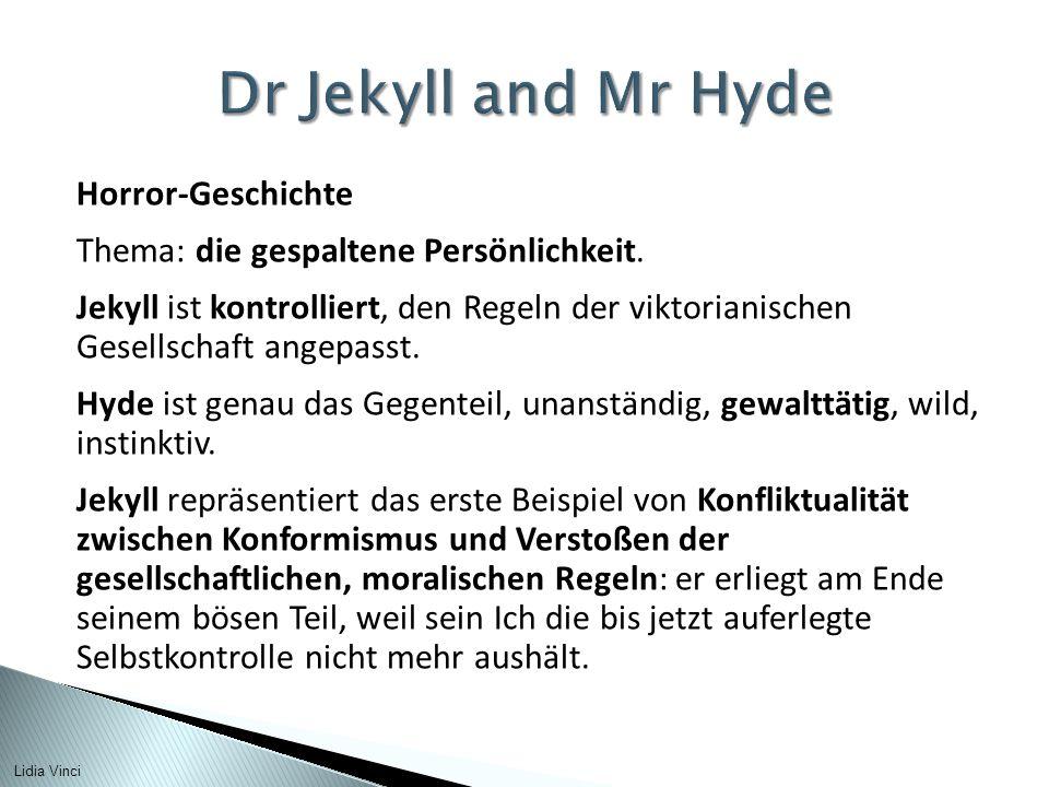 Horror-Geschichte Thema: die gespaltene Persönlichkeit.