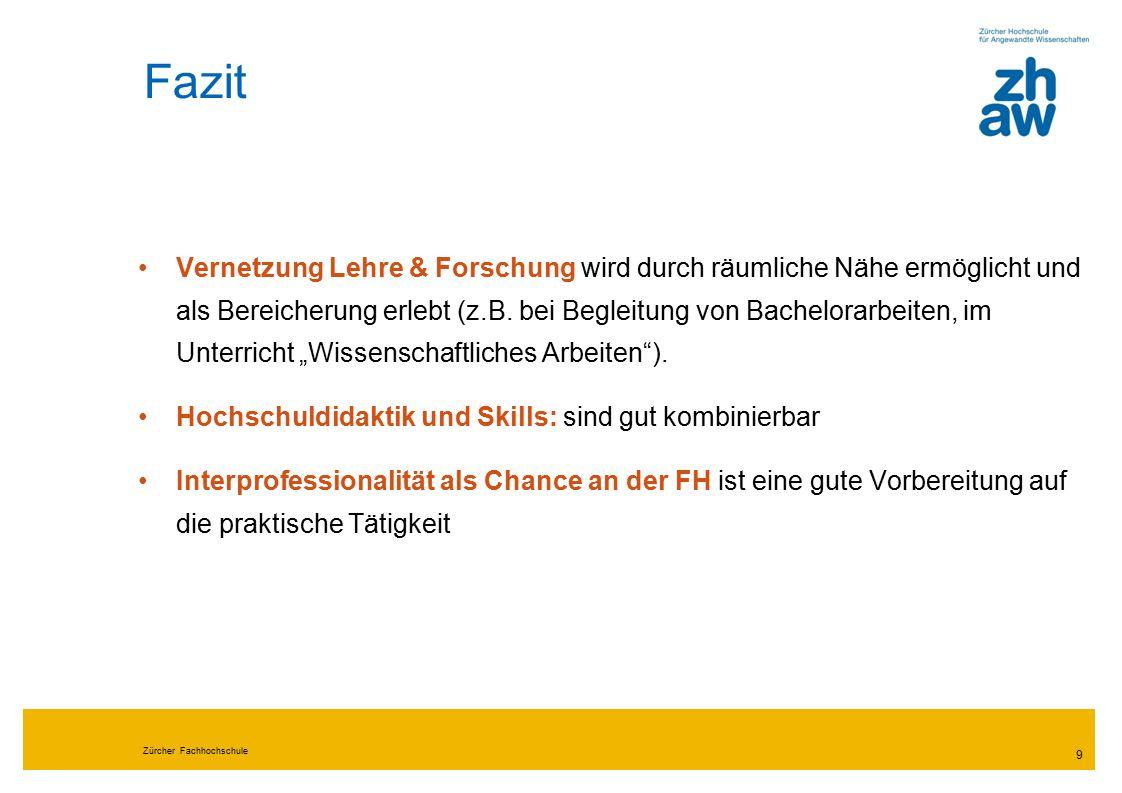 Zürcher Fachhochschule 10 4.