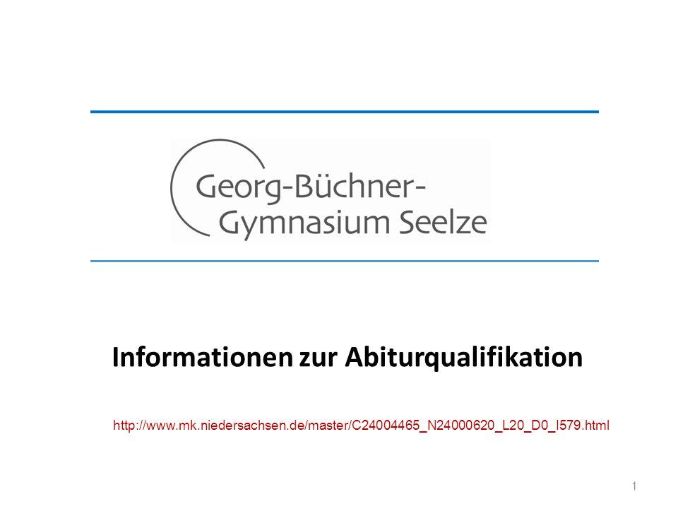 1 Informationen zur Abiturqualifikation http://www.mk.niedersachsen.de/master/C24004465_N24000620_L20_D0_I579.html