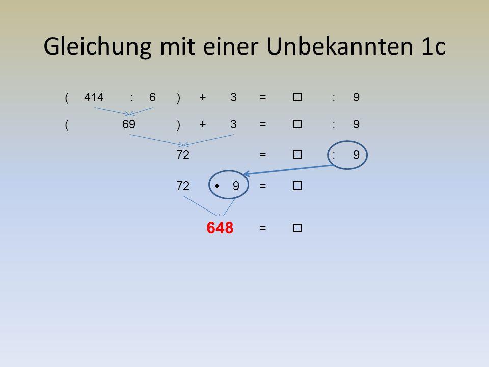 Gleichung mit einer Unbekannten 1d 3 ( ❑ —2)=9— 3 3 ( ❑ —2)=6 ( ❑ —2)=63: ( ❑ —2)=2 ( ❑ +2)=2 ❑ 4= 4