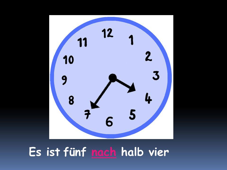 Es ist fünf vor halb zwölf Wie spät ist es?