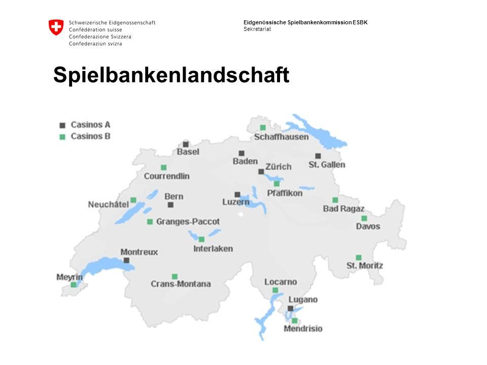 Eidgenössische Spielbankenkommission ESBK Sekretariat Spielbankenlandschaft