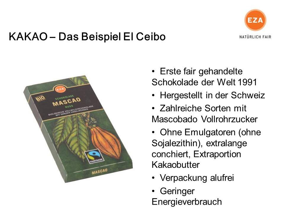 Erste fair gehandelte Schokolade der Welt 1991 Hergestellt in der Schweiz Zahlreiche Sorten mit Mascobado Vollrohrzucker Ohne Emulgatoren (ohne Sojalezithin), extralange conchiert, Extraportion Kakaobutter Verpackung alufrei Geringer Energieverbrauch