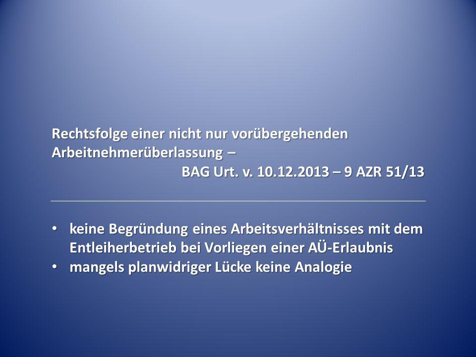 """Betriebsverfassungsrechtliche Auswirkungen des Streits um den Begriff """"vorübergehend § 99 Abs."""