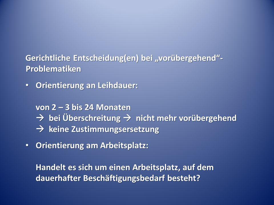 """""""Angepasster Ablauf der Mitbestimmung nach § 99 BetrVG Anhörung BR; Dauer: 1 Monat Verweigerung Anrufung ArbG + vorläufige Beschäftigung gerichtliche Entscheidung ??."""