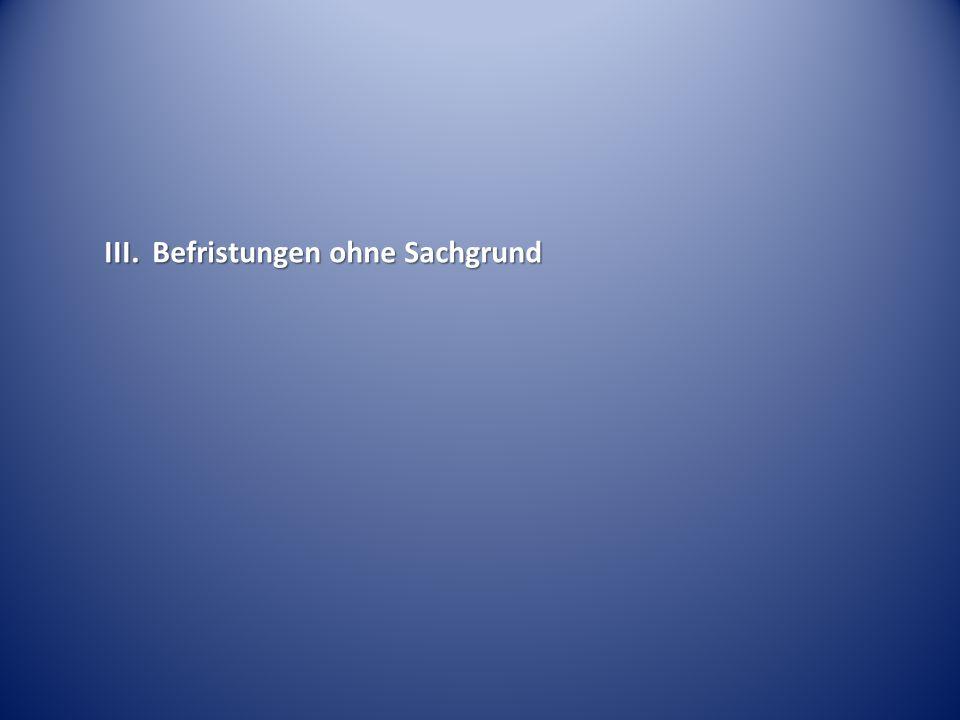 Vorbeschäftigungsverbot – 3-Jahres-Grenze BAG Urt.