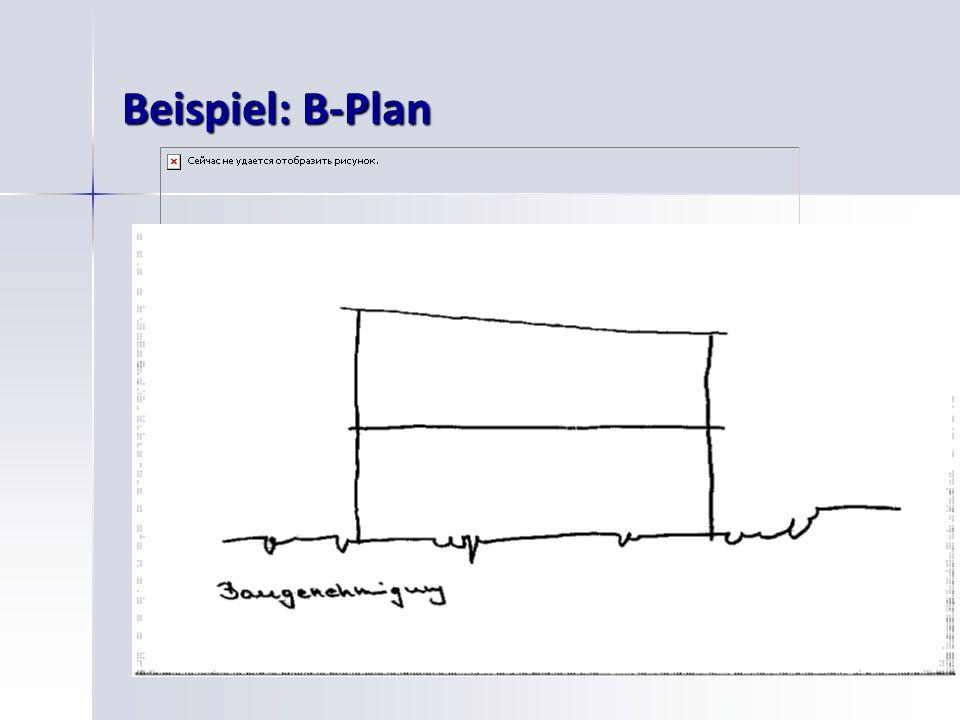 26 Beispiel: B-Plan