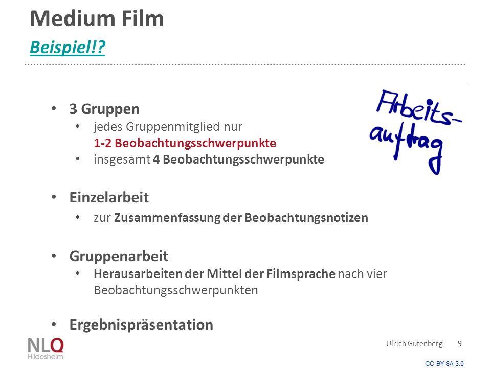 Werkzeugbeherrschung Werkzeuge zur Erschließung und Gestaltung Ulrich Gutenberg 30