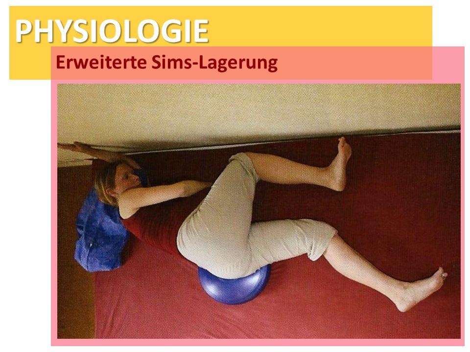 PHYSIOLOGIE Erweiterte Sims-Lagerung