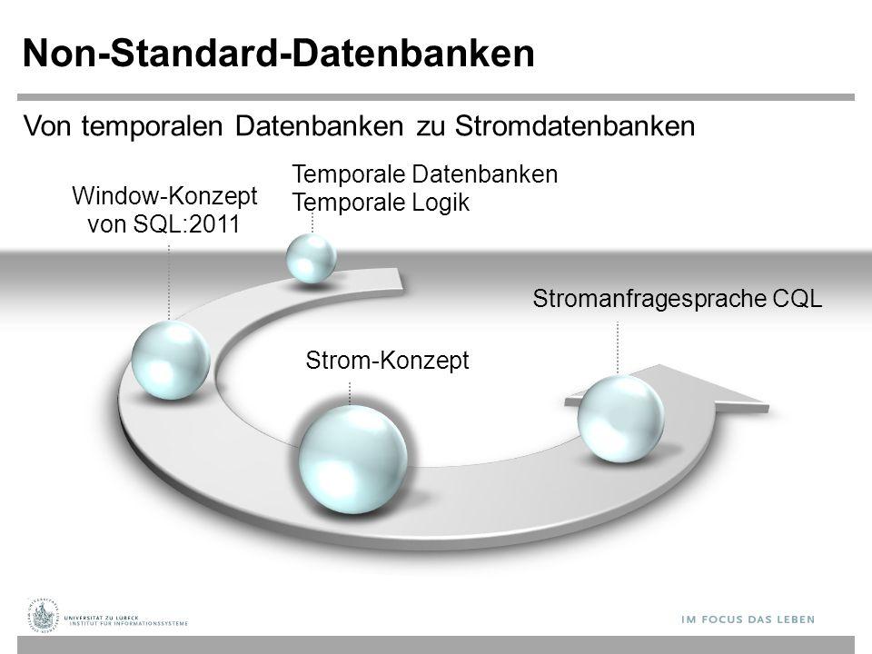 Window-Konzept von SQL:2011 Non-Standard-Datenbanken Strom-Konzept Stromanfragesprache CQL Von temporalen Datenbanken zu Stromdatenbanken Temporale Datenbanken Temporale Logik