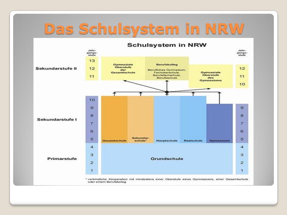 Das Schulsystem in NRW
