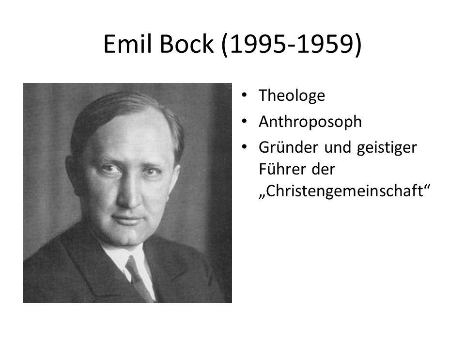 """Emil Bock (1995-1959) Theologe Anthroposoph Gründer und geistiger Führer der """"Christengemeinschaft"""""""