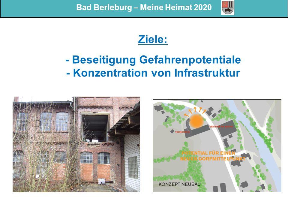 Bad Berleburg – Meine Heimat 2020 Ziele: - Beseitigung Gefahrenpotentiale - Konzentration von Infrastruktur