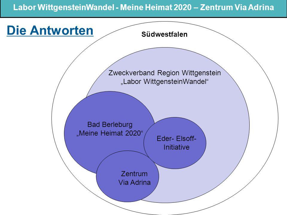 """Labor WittgensteinWandel - Meine Heimat 2020 – Zentrum Via Adrina Die Antworten Bad Berleburg """"Meine Heimat 2020"""" Zweckverband Region Wittgenstein """"La"""