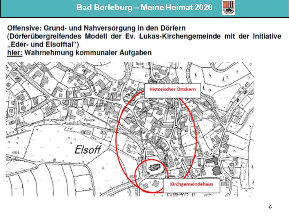 Bad Berleburg – Meine Heimat 2020 Umnutzung Industriebrache Hartmann Leerstand (seit 14 Jahren): Schandfleck im Dorfkern Impuls im September 2009: Handeln statt Reden Chance: REGIONALE 2013 / Prozess in Bad Berleb.